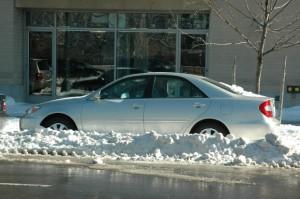 Bil på vinterferie